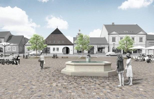 Popis: Jeden z návrhů na novou podobu náměstí.