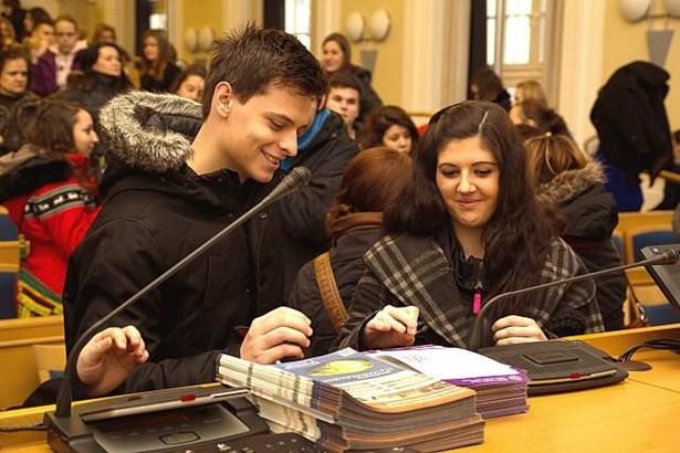 Popis: Fakulta veřejných politik Opavě se představila zájemcům o studium.