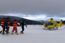 Jedenáctiletá lyžařka utrpěla vážný úraz