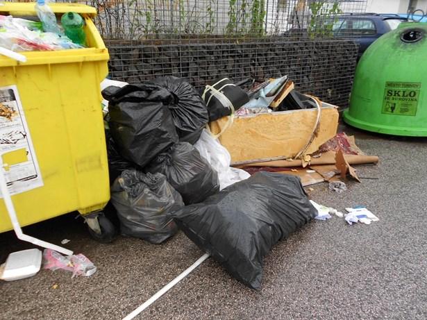 Popis: Místa pro tříděná odpad nejsou sběrným dvorem...