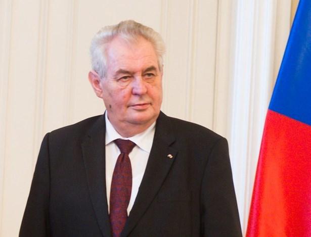 Popis: Prezident ČR Miloš Zeman.