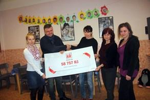 KiK finančně podpořil Azylový dům na skalách v Žamberku