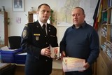 Hasiči předali medaili starostovi obce Hodějice