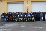 Požární stanicí v Blansku se ve čtvrtek  rozezněl zvuk nového zvonu