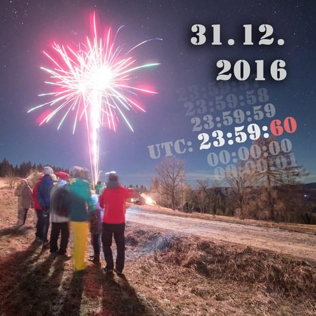 Popis: Ve světovém čase (UTC) začne nový rok 2017 o sekundu později. V Česku se změna projeví 1. ledna 2017 v 0:59:60 SEČ.