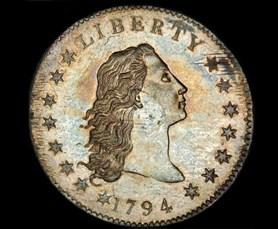 Nejdra��� mince sv�ta - legend�rn� Flowing Hair Liberty Dollar z roku 1794