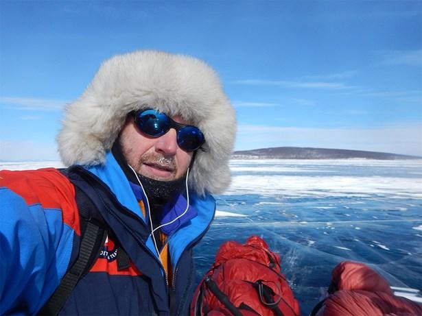 Popis: Polárník Petr Horký.