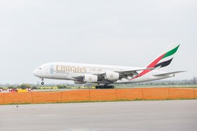Inaugura�n� let Emirates A380 p�ist�l v Praze