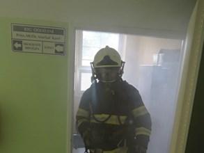 Simulovan� po��r v tanvaldsk� nemocnici
