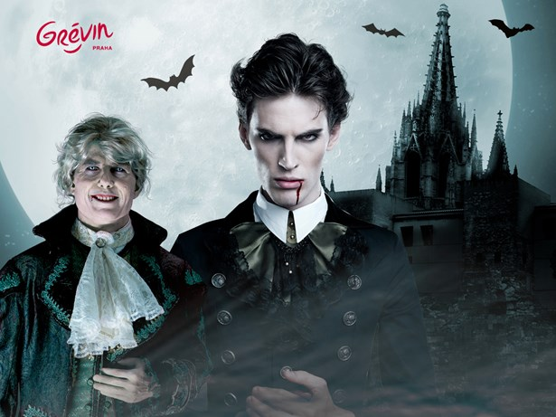 Popis: Halloween a hrabě Drákula v muzeu Grévin.