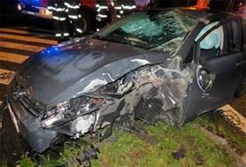 Viníkem havárie opět alkohol,  řidič nadýchal téměř 2,5 promile
