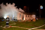 Požár chatky v Horní Libchavě
