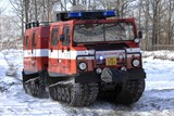 Na Frýdlantsko poslali hasiči v noci obojživelné pásové vozidlo