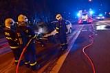 Požár osobního vozu v Ostravě - Hrabové se podařilo lokalizovat hasicím přístrojem z autobusu