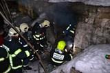 Požár ve skalním sklepě si vyžádal lidský život