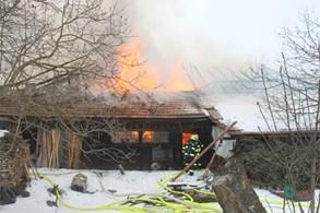 Hasiči na Blanensku likvidovali rozsáhlý požár