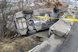 Havárie BMW uzavřela dálniční sjezd
