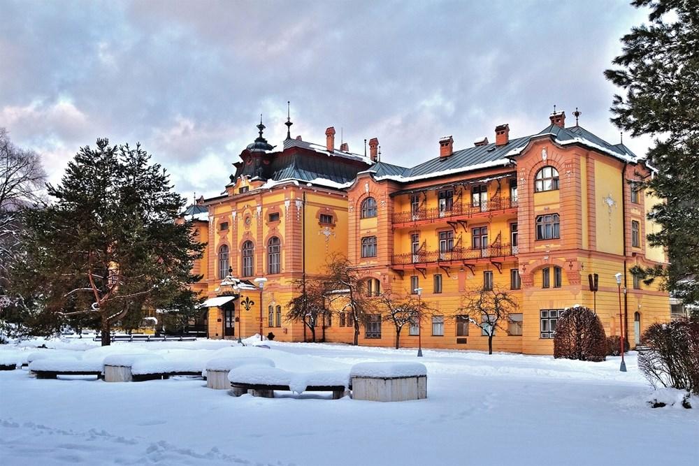 Popis: Bardejovské Kúpele - Hotel Astória.