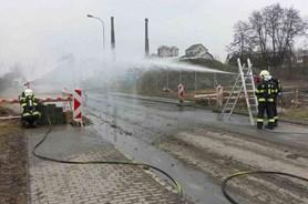 V Průmyslové ulici v Olomouci unikal plyn