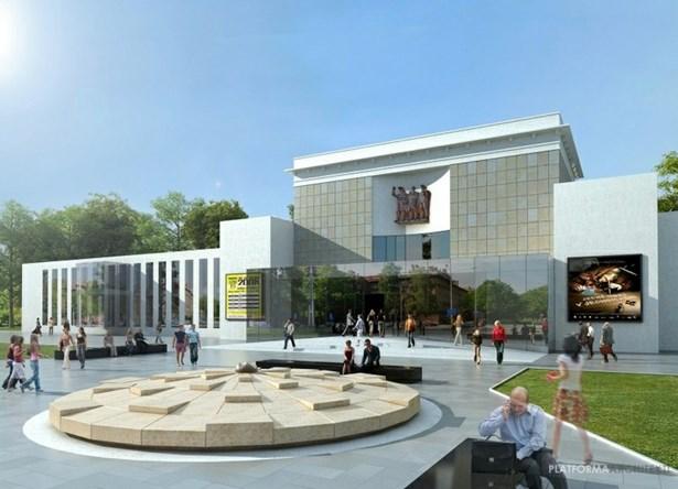 Popis: Vizualizace Domu kultury Poklad po rekonstrukci.