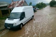 Strážnicí na Hodonínsku se prohnal přívalový déšť