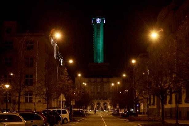 Popis: Radniční věž v Ostravě.