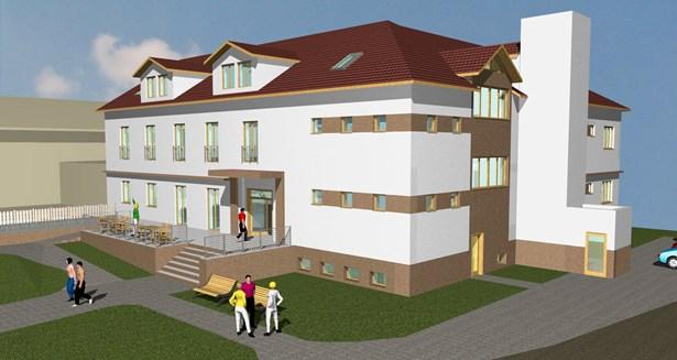 Popis: Vizualizace nového bytového domu.