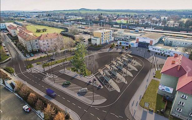 Popis: Vizualizace nového autobusového nádraží v Lovosicích.