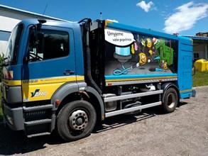 Do ulic Orlové vyjede nový mycí vůz na popelnice a kontejnery
