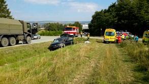 Pět lidí se zranilo při nehodě ve Vyškově