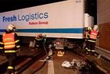 Nehoda polského kamionu u Českého Těšína uzavřela nadlouho půl dálnice