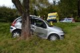 Řidička utrpěla po nárazu do stromu těžké zranění
