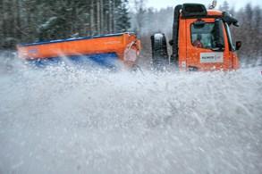 První sníh na silnicích v Libereckém kraji