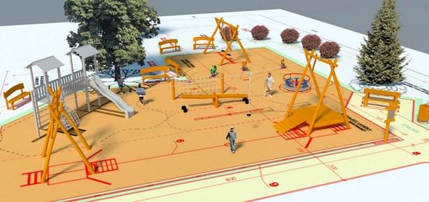 Popis: Vizualizace - Klidová relaxační zóna ve starých Příměticích - vítězný projekt z městských částí.