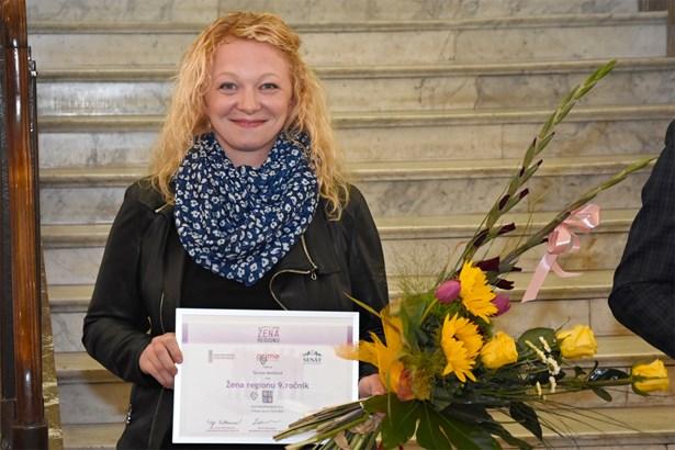 Popis: Tereza Melišová - Žena regionu za Královéhradecký kraj.