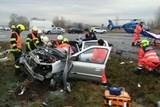 Vážná nehoda zastavila provoz na silnici z Hodonína do Rohatce