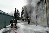 V Tišnově hořela skladovací hala