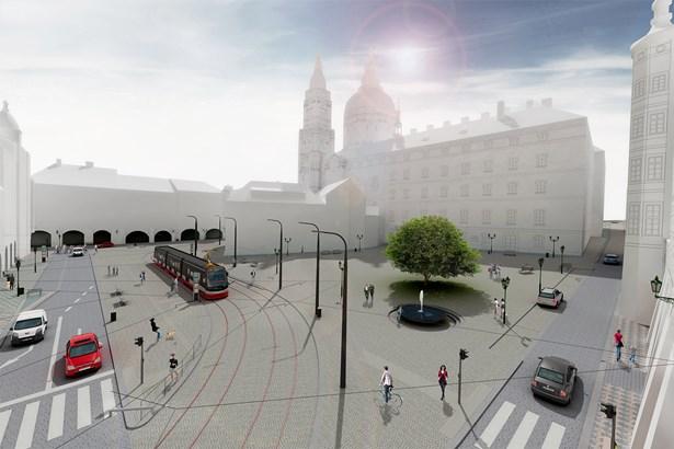 Popis: Vizualizace budoucí podoby náměstí.