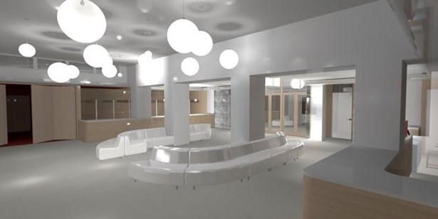 Popis: Takto by mohl vypadat vstup do kina Mír po rekonstrukci (pohled směrem k hlavnímu vchodu).