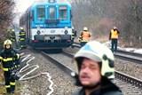 V Bohunicích hořel vůz osobního vlaku