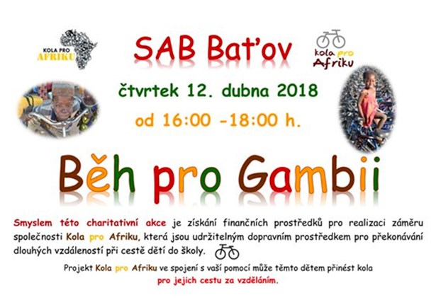 Běh pro Gambii - Otrokovice.