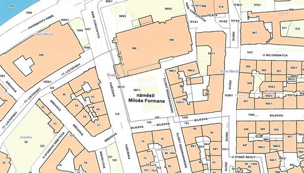 Popis: Náměstí Miloše Formana bude na prostranství ohraničeném ulicemi Pařížskou, Bílkovou, Elišky Krásnohorské a náměstím Curieových.