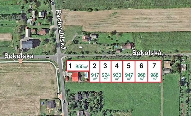 Stavební parcely Sokolská, Bohumín.