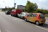 Nehoda čtyř vozidel si vyžádala jedno zranění