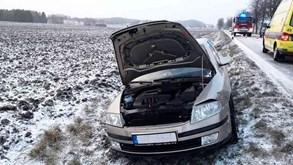 U Horního Studence havarovala dvě osobní vozidla