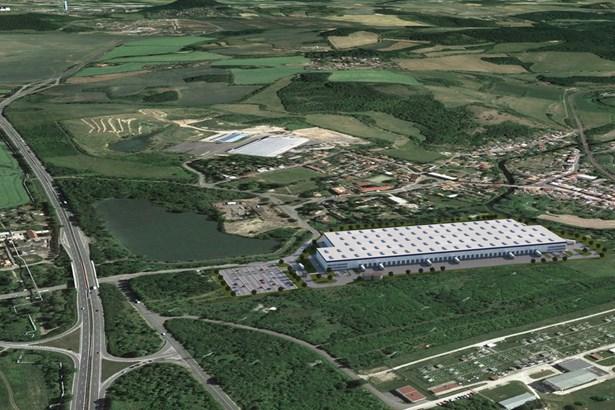 Popis: Vizualizace průmyslového parku Panattoni Park Teplice South.