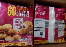 Státní veterinární správa nařídila stažení mražených kuřecích řízků kvůli obsahu úlomků plastu