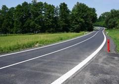 Druhý úsek silnice  Pernolec – Přimda je po rekonstrukci