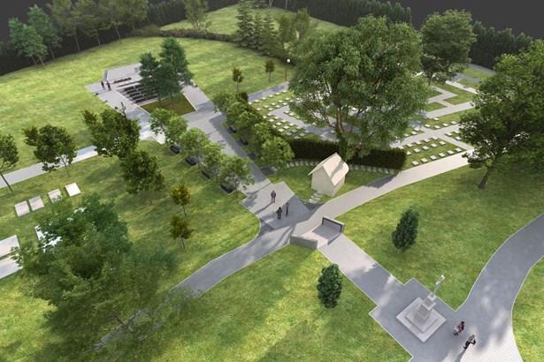 Popis: Nová centrální část hřbitova - vizualizace.