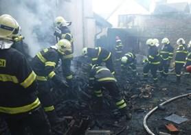 Požár rodinného domku v Hrabové